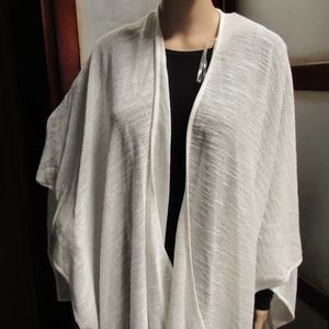 Calvin Klein Textured-Weave Cover-Up & Shawl
